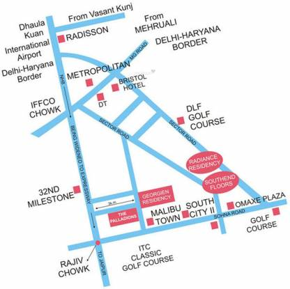SS The Palladians Location Plan