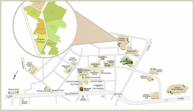Unitech Aspen Greens Layout Plan
