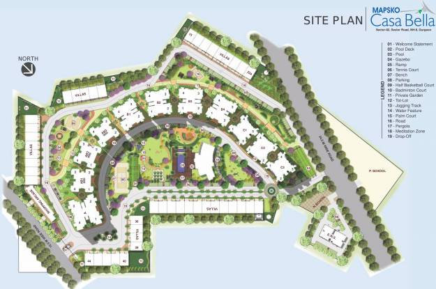 Mapsko Casa Bella Layout Plan