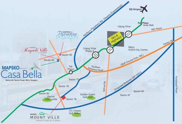 Mapsko Casa Bella Location Plan