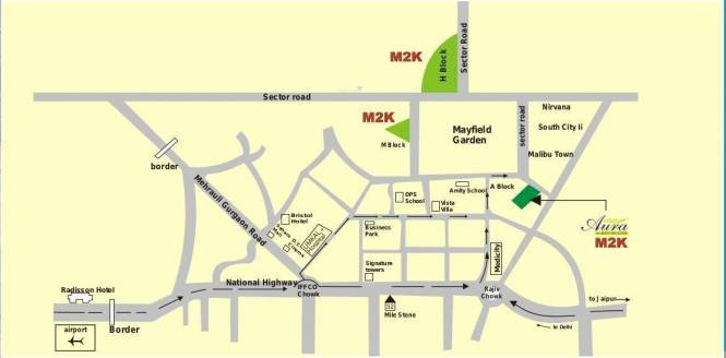 M2K Aura Location Plan