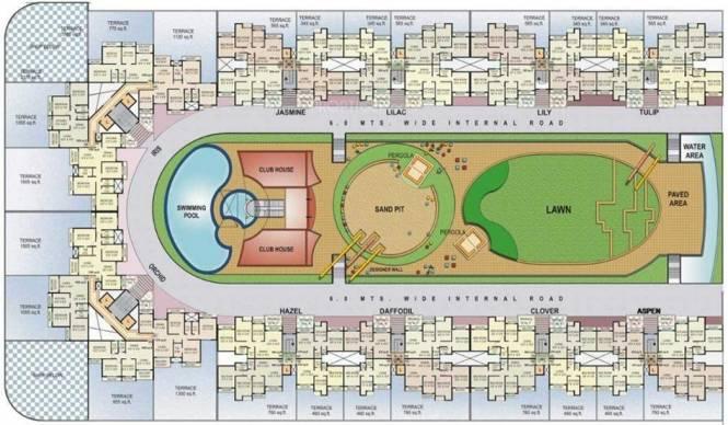 Kesar Gardens Cluster Plan