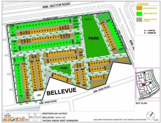 Vatika Bellevue Residences Layout Plan
