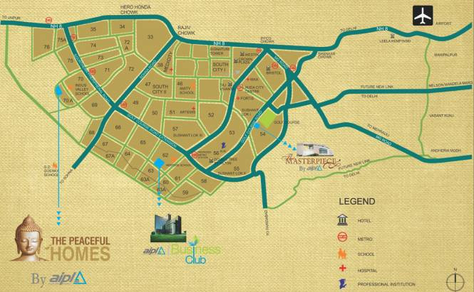 AIPL The Peaceful Homes Location Plan