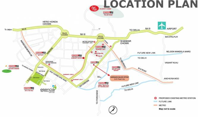 Ansal Esencia Location Plan