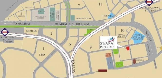 Swaraj Imperial Location Plan