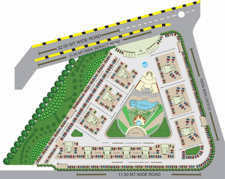 670 sq ft 1 BHK 1T Apartment for rent in Nisarg Group Hyde Park at ...