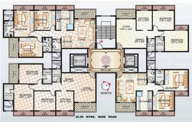 Sai Manomay Apartments Cluster Plan