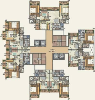Red Brick Brizo Residency Cluster Plan