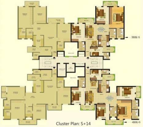 Sare Royal Greens Cluster Plan