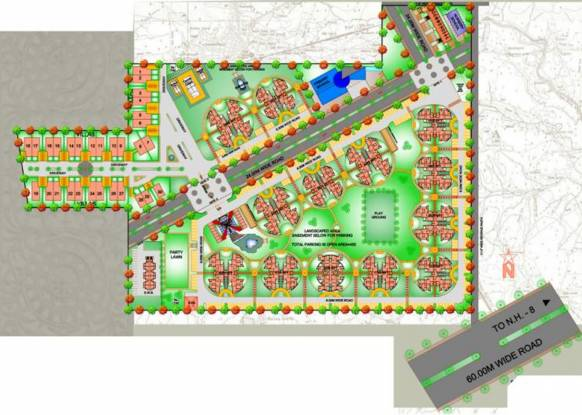 The Antriksh Heights Layout Plan