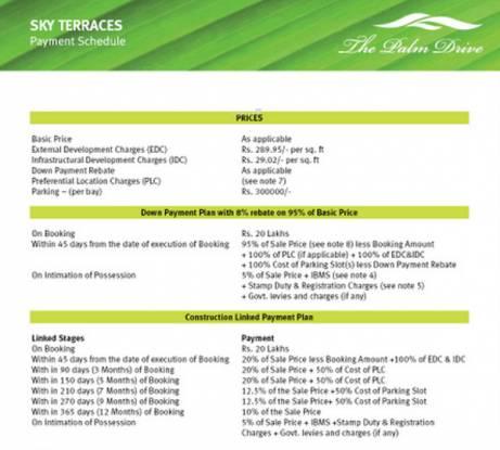 Emaar Sky Terraces Payment Plan