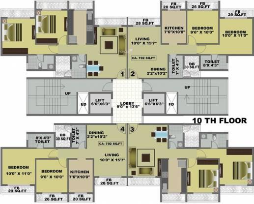 Yash Yash Heights Cluster Plan