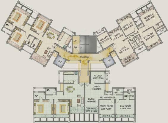 Concrete Sai Saakshaat Cluster Plan