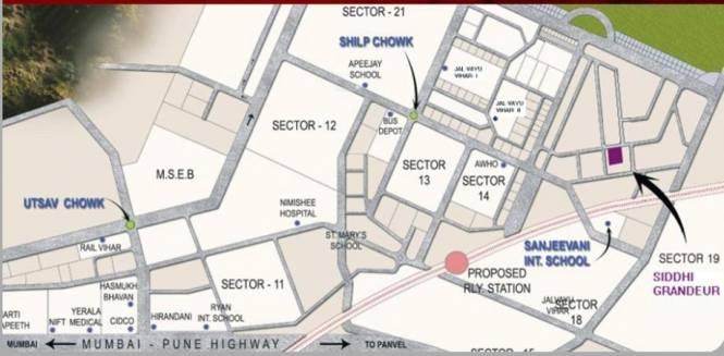 Siddhi Grandeur Location Plan