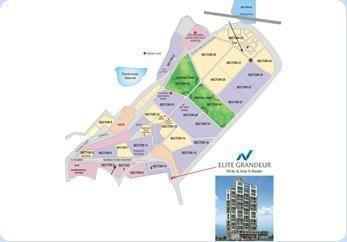 Nathdwara Elite Grandeur Location Plan