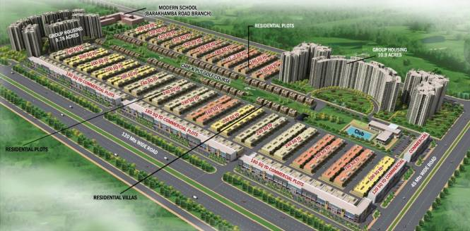 Sunworld City Layout Plan