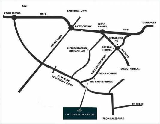 Emaar The Palm Springs Location Plan