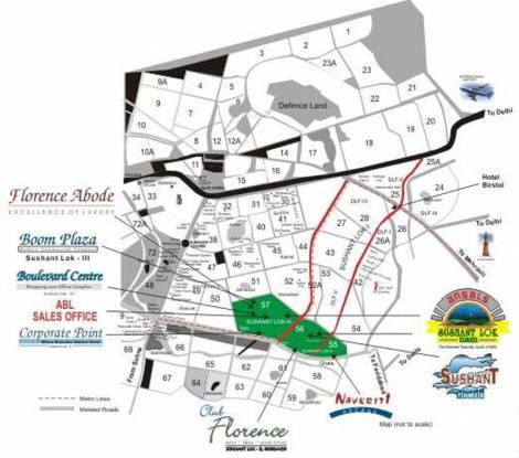 Ansal Florence Abode Location Plan