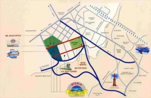 Ansal Oriental Villa Location Plan