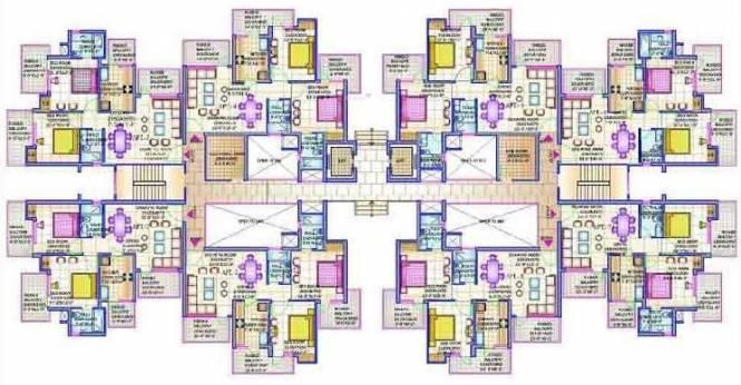 Dwarkadhish Aravali Heights Cluster Plan