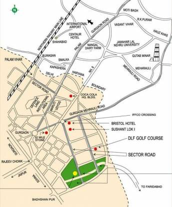 Ansal Florence Marvel Location Plan