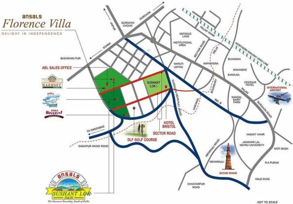 Ansal Florence Villa Location Plan
