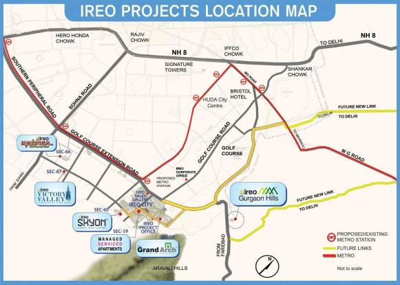 Ireo The Grand Arch Location Plan