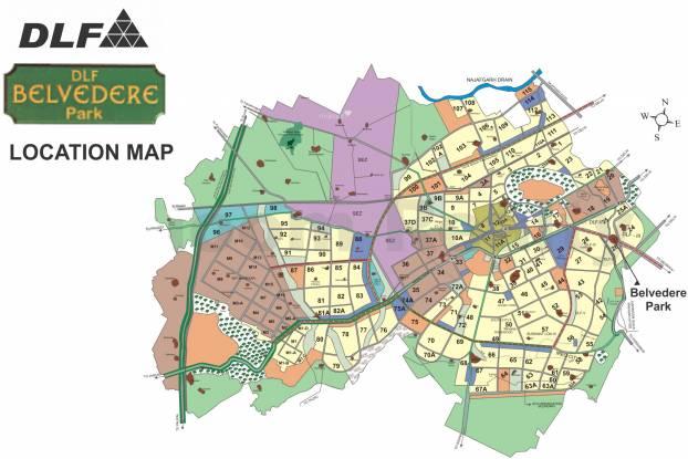 DLF Belvedere Park Location Plan