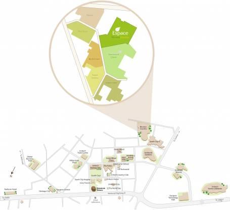Unitech Espace Nirvana Country Location Plan