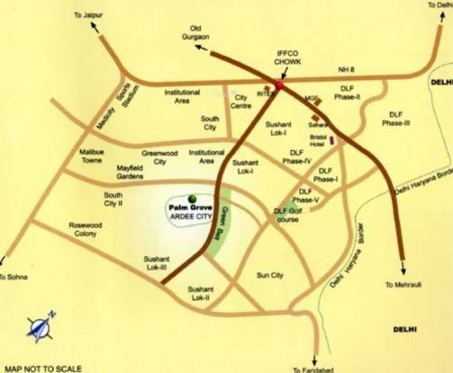 Ardee Palm Grove Villas Location Plan