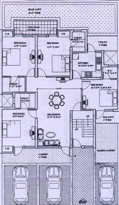 Ardee Platinum Independent Floors Cluster Plan