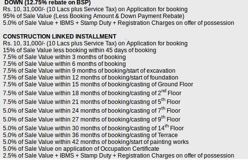 Emaar The Palm Springs Villa Payment Plan