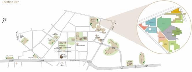 Unitech Cedar Crest Location Plan
