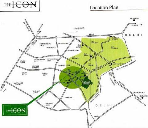 DLF The Icon Location Plan