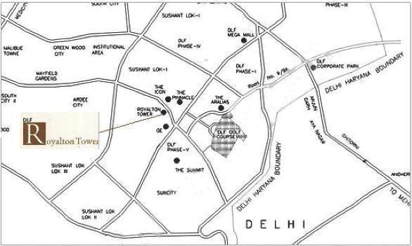 DLF Royalton Towers Location Plan