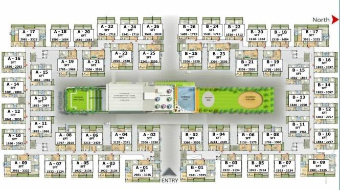 Western Plaza Layout Plan