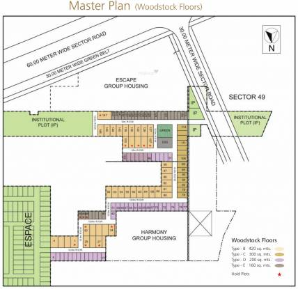 Unitech Woodstock Floors Master Plan