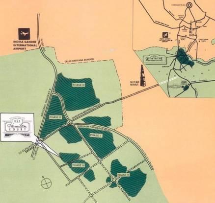 DLF Hamilton Court Location Plan