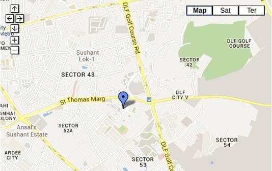 DLF Trinity Towers Location Plan