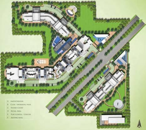 Landmark The Residency Layout Plan