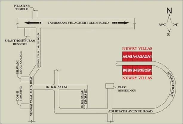 Newry Newry Villas Location Plan
