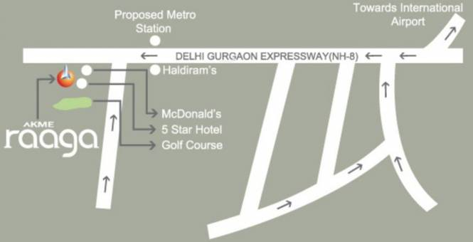Akme Raaga Location Plan