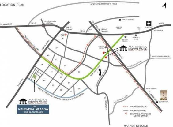Mahendra Meadow Location Plan