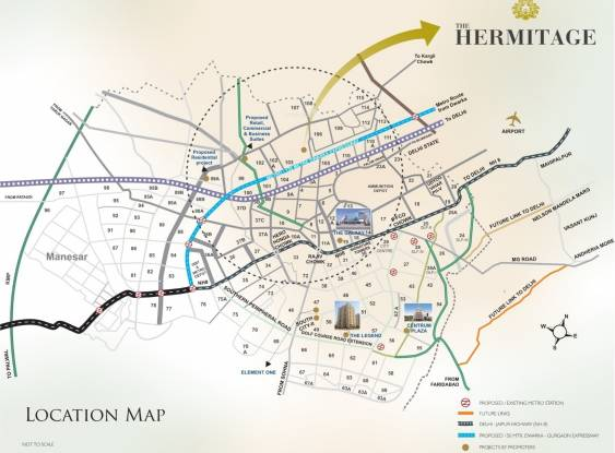 Satya The Hermitage Location Plan