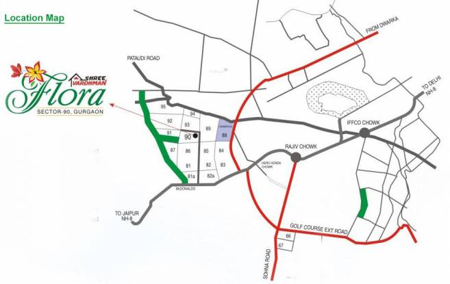 Shree Flora Location Plan