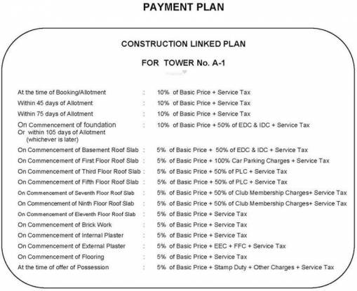 Shree Flora Payment Plan