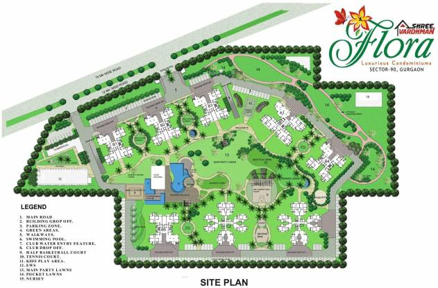 Shree Flora Site Plan