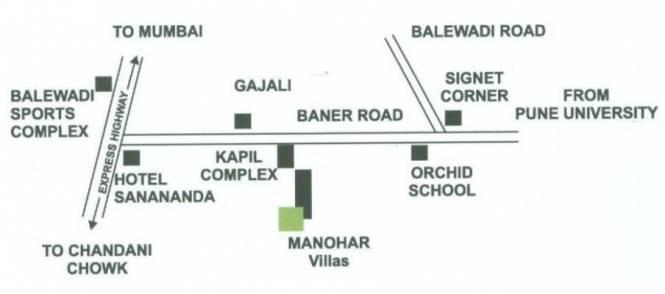 Manohar Manohar Villas Location Plan