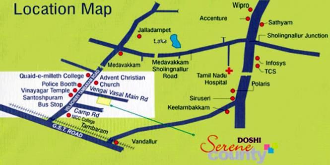 Doshi Serene County Location Plan